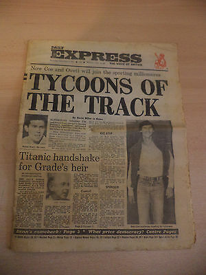 OLD VINTAGE NEWSPAPER 1950s DAILY EXPRESS 3 SEPT 1981 LORD GRADE SEB COE OVETT