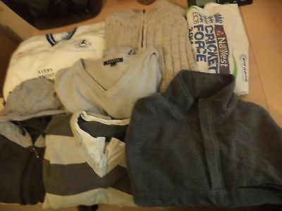 Job Lot Of 7 X Mens T Shirt Jumper Sweater Jersey Used Clothes Large Xl L Next