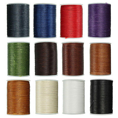 78m 0.8mm Waxed Thread Cord String Line Sewing Leather Hand Wax Stitching DIY