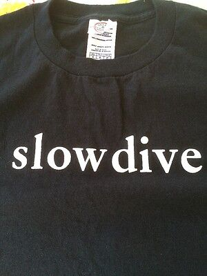 Slowdive T Shirt Gig Concert Fan Black Shoe Gaze Dream Pop Neil Halstead