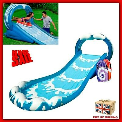 Inflatable Water Slide Surf Sprayer Bouncer Outdoor Kids Garden Play Centre Park