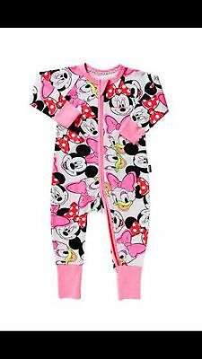 Bonds Mickey And Minnie Mouse Zippy Wondersuit Size 2