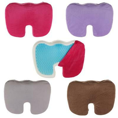 Orthopedic Silicone Cool Gel Seat Cushion Pad Lumber Support Office Wheelchair