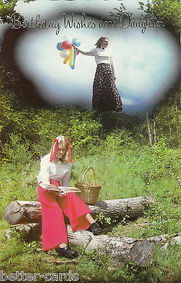 Quite Weird Happy Birthday Daughter Vintage 1970's Greeting Card - Daydreams 1
