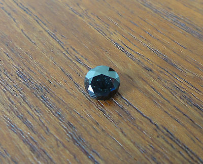 Diamant Noir 1,14 Carat Taille Brillant. Loose Black Round Diamond 1,14 Carat.