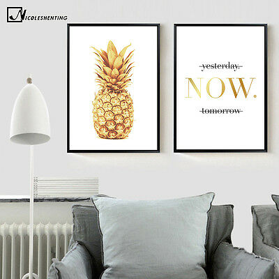 Pineapple Motivational Quote Poster Prints Minimalist Wall Art Canvas Painting