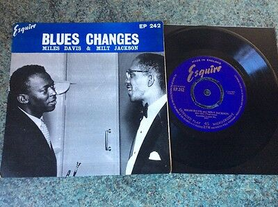 Miles Davis - Milt Jackson - Blues Changes - UK EP 1955 NM / EX Esquire EP242