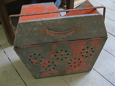 Vintage Rustic Metal Mouse Trap box Planter Garden Home Decor Farmhouse