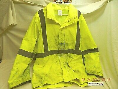 Body Guard Safety Gear Jacket! Very Distressed! Used! Repurpose-Raincoat! As Is!