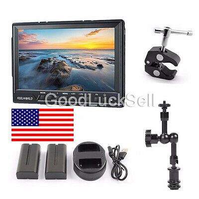 Feelworld FW-760 7'' Video Monitor IPS Full HD 1920x1200 1080p HDMI+Battery pack