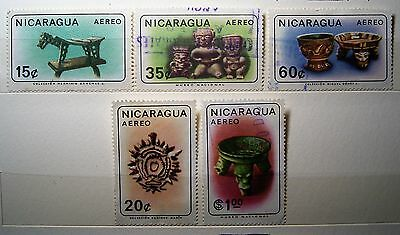 Nicaragua Aereo Stamps ... Small Collection 5 Used Stamps