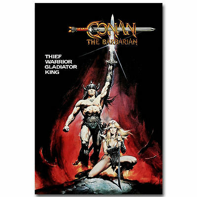 Arnold Schwarzenegger CONAN THE BARBARIAN Classic Movie Poster