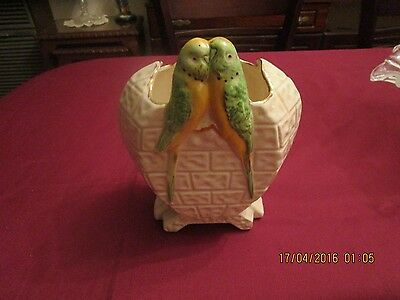 Art Deco Price Kensington Budgies Vase