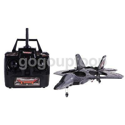 Remote Control Airplane F22 Fighter Jet RTF 4CH RC Quad Copter Indoor Toy