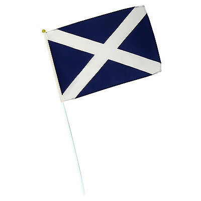 Scotland Burns Night National St Andrews Cross Saltire Patriot Hand Waving Flags