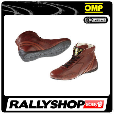 FIA OMP CARRERA LOW Race shoes Light Brown Rally Sport Boots Leather 2017