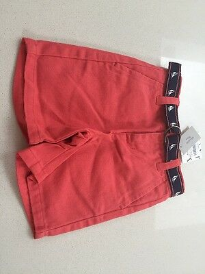 Janie and Jack. Bright Red Shorts And Belt - Size 6-12 months NWT Rrp$34