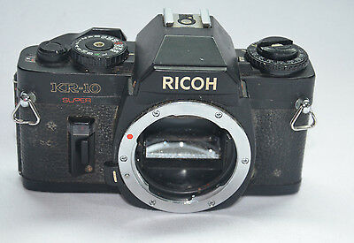 RICOH KR-10 SUPER 35mm FILM SLR CAMERA BODY PENTAX P/K MOUNT SPARE PARTS REPAIR