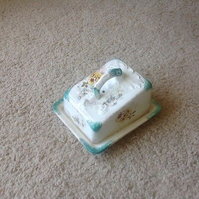 Vintage Ceramic Cheese Butter Dish And Cover
