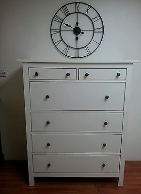 Beautiful IKEA white tallboy chest of drawers