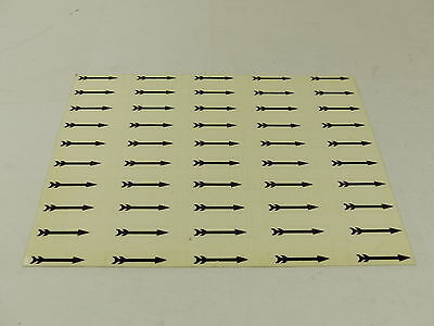 Arrowcators black self adhesive arrows -  for highlighting stamp errors x 50