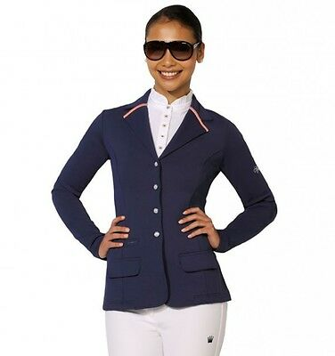 Spooks Mika Ladies Softshell Competition Show Jacket navy blue size S UK 8/10