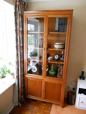 Vintage Chinese Solid Yellow Rosewood Display Cabinet c1960-1970