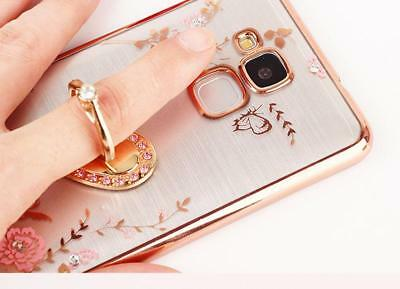 Fashion Flowers Soft Cover Case Fnger Ring Bracket  For Huawei  Honor 7 Lite