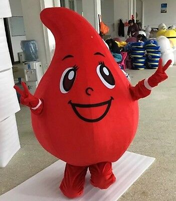 New Red Blood Drop Mascot costume adult kids party function Halloween Cosplay