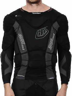 Troy Lee Designs Black UPS 7855 - Hot Weather - Long Sleeve MX Protection Jersey