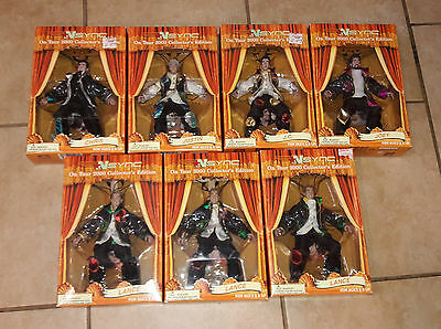 NSYNC On Tour 2000 Collector's Edition Marionette Puppet Dolls Figure  Lot of 7