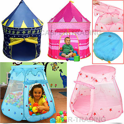 Childrens Kids Baby Pop Up Wizard Princess Castle Tent Indoor Outdoor Playhouse