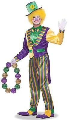 Mardi Gras Carnivale Clown Adult Male Costume One Size Fits Most