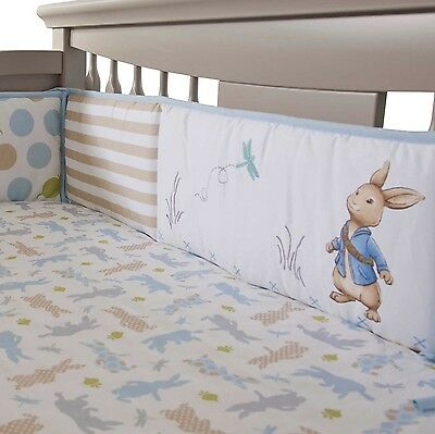 Lambs & Ivy Peter Rabbit 4 piece Crib Bumper ~ New With Tag!! (4 Pc BUMPER ONLY)