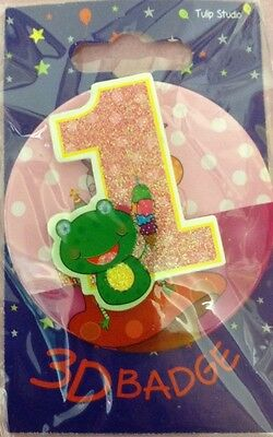 Age 1 Badge Girls Birthday