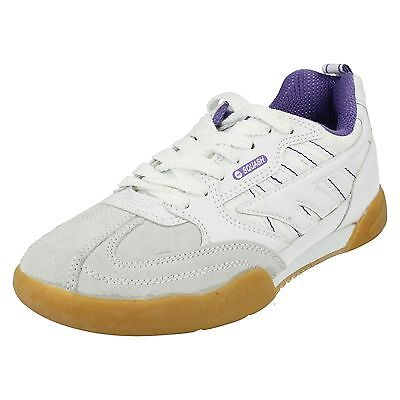 Ladies Hi Tec Squash Classic Leather Lace Up Casual Trainers Sports Shoes