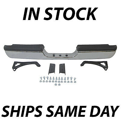 Chrome Steel Rear Bumper Assembly Replacement for 1994-2002 Dodge RAM 1500 2500