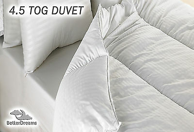 Summer Duvet 4.5 Tog Quality Embossed Satin Stripe Microfibre Cover FREE UK P&P
