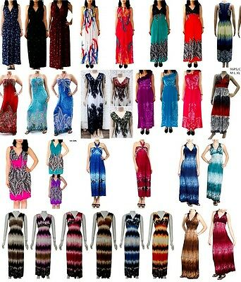 New Lot Women Multi color Halter Casual Cocktail Maxi Long Summer DRESS S M L XL