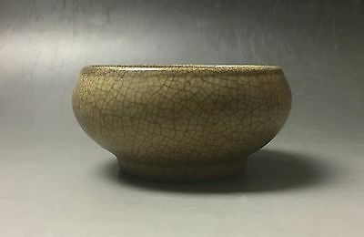 Rare Chinese porcelain Ge kiln yellow glaze bowl