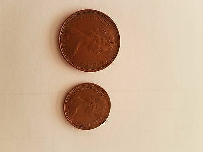 RARE NEW PENCE 1p and 2p COINS 1975