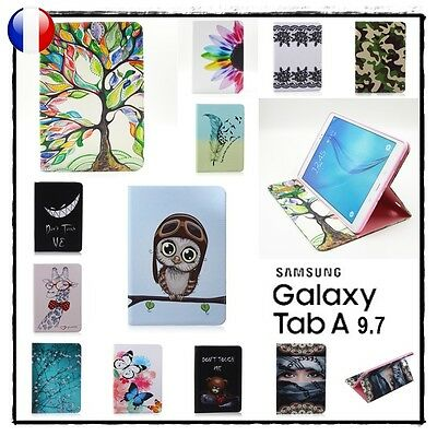 Etui Coque Housse Cuir PU Leather Stand Cover Case Galaxy Tab A 9.7 T550 T555