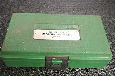 GreenLee Ball Bearing Knockout Punch Set 735BB WITH ORIGINAL CASE USED