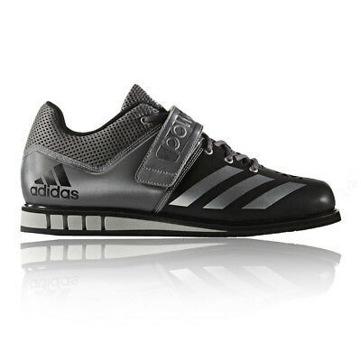 Adidas Powerlift 3 Mens Grey Black Weightlifting Sports Shoes Trainers Pumps