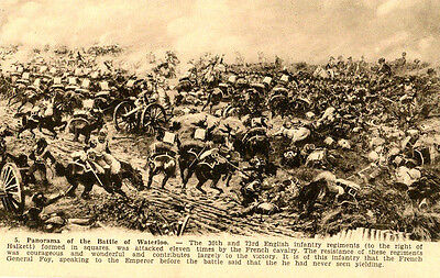 1912 postcard Panorama of the Battle of Waterloo Belgium