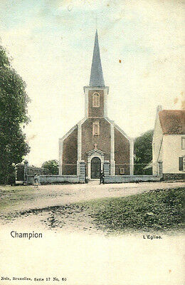 1900s postcard The church CHAMPION Belgium