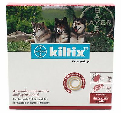 New Kiltix Flea Tick Collar Bayer 70cm For Large Dogs Over 20kg Control 6 Months