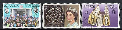 BELIZE STAMPS- Silver Jubilee, set, 1977 (#)