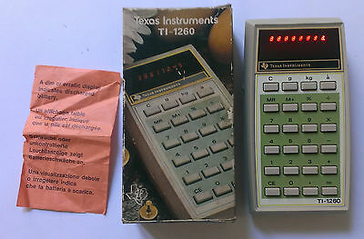 Calcolatrice Texas Instruments TI-1260 Lady European Calculator Vintage RARE