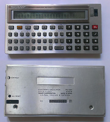 Pocket Computer SHARP PC-1251 Calcolatrice Electronic Calculator Vintage Japan